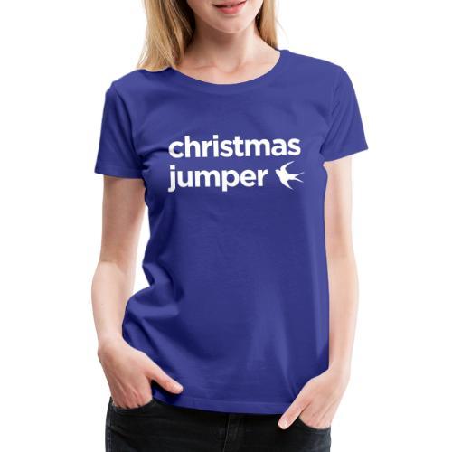 Cardiff Christmas Jumper - Women's Premium T-Shirt