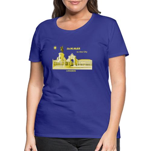 Sommer Lissabon Portugal Hauptstadt City Palast - Frauen Premium T-Shirt