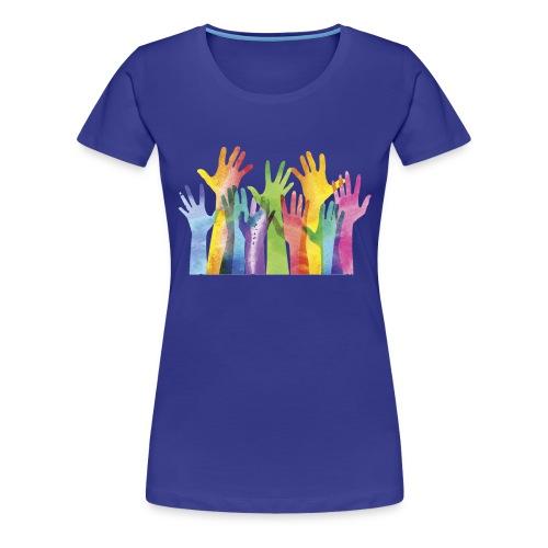 Alll hands - Vrouwen Premium T-shirt
