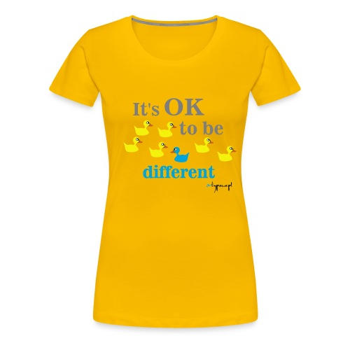 It's OK to be different - Koszulka damska Premium