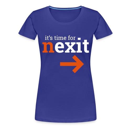 it's time for nexit logo in wit en oranje - Vrouwen Premium T-shirt
