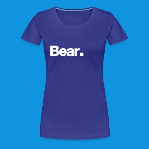 Bear. Retro Bag - Women's Premium T-Shirt