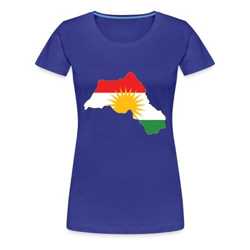 Kurdistan Flag Map - Frauen Premium T-Shirt
