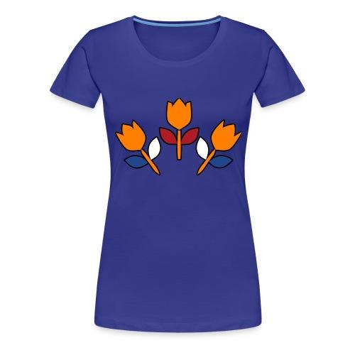 bewares emblem tulips - Vrouwen Premium T-shirt