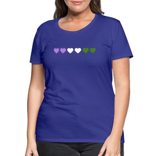 Genderqueer Hearts - Women's Premium T-Shirt