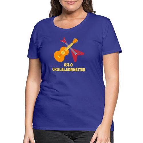 Oslo Ukuleleorkester - Premium T-skjorte for kvinner