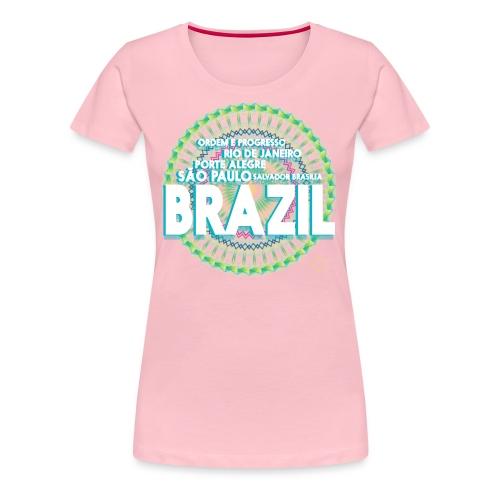 Lemon Brazil Mandala - T-shirt Premium Femme