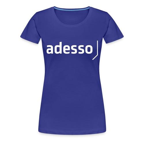 adesso basic white - Frauen Premium T-Shirt