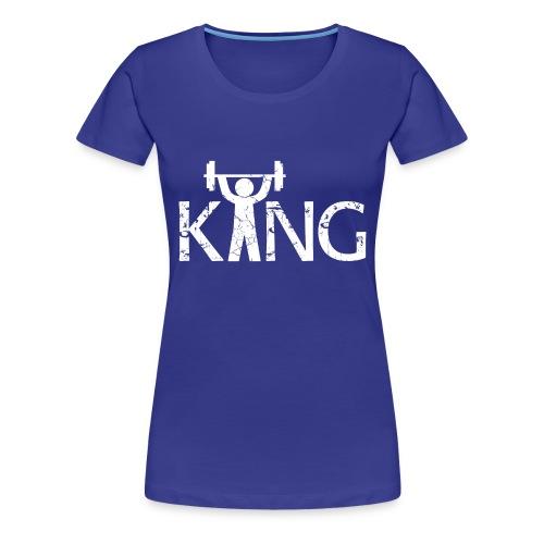 King of the Gym - Frauen Premium T-Shirt