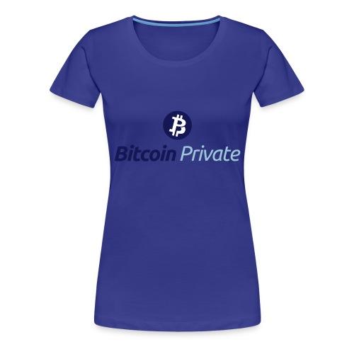 Bitcoin Private Logo ICON TOP - Dark / Light Blue - Women's Premium T-Shirt
