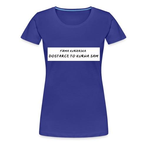 firma kurierska tyl - Koszulka damska Premium