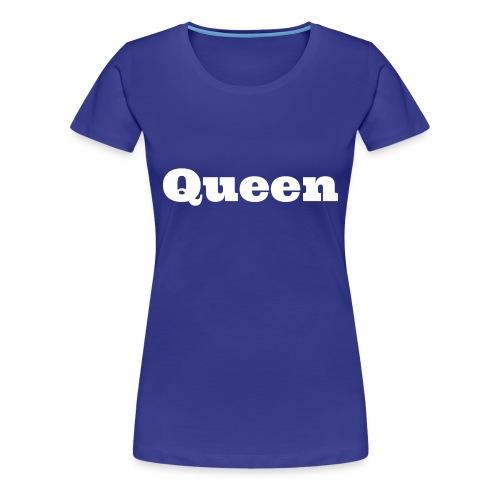 Snapback queen zwart/blauw - Vrouwen Premium T-shirt