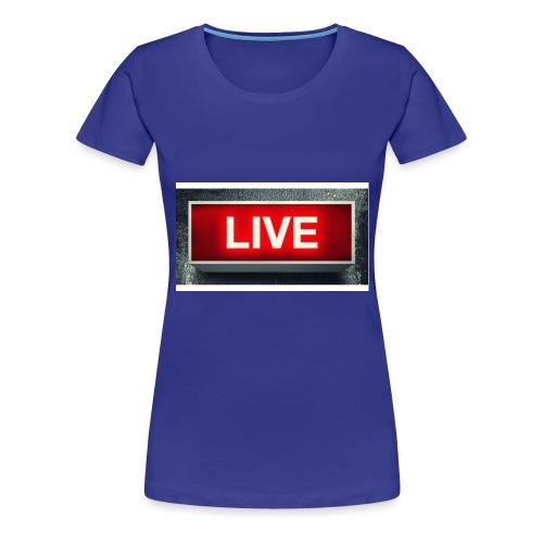 live bord youtube - Vrouwen Premium T-shirt