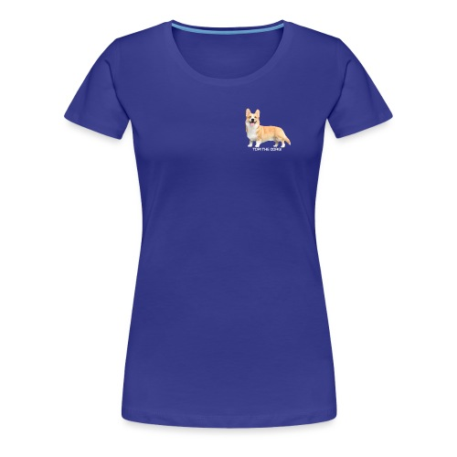 Topi the Corgi - White text - Women's Premium T-Shirt