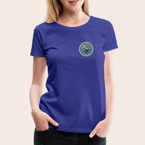 Volcanoes, Monkeys & Sun - Badge - T-shirt Premium Femme