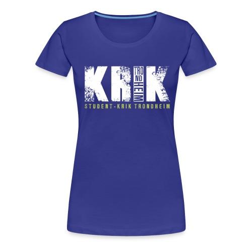 Logo hvit - Premium T-skjorte for kvinner