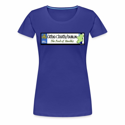 CO. DUBLIN, IRELAND: licence plate tag style decal - Women's Premium T-Shirt