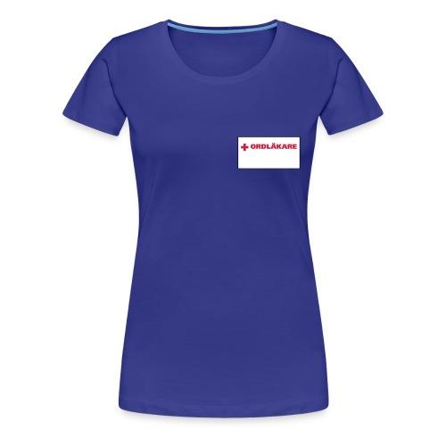 Ordläkare - Premium-T-shirt dam
