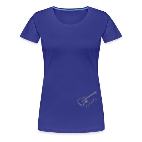 Blues white - Women's Premium T-Shirt