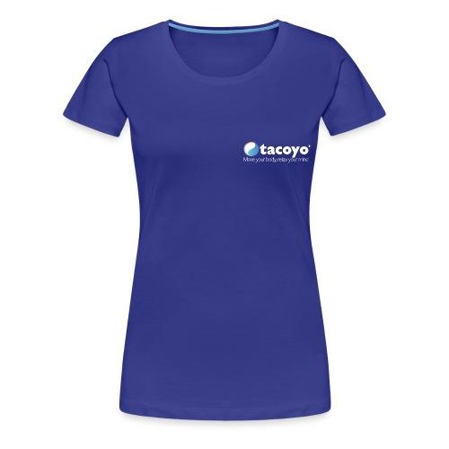 Borstlogo WIT inclusief move your body - Vrouwen Premium T-shirt