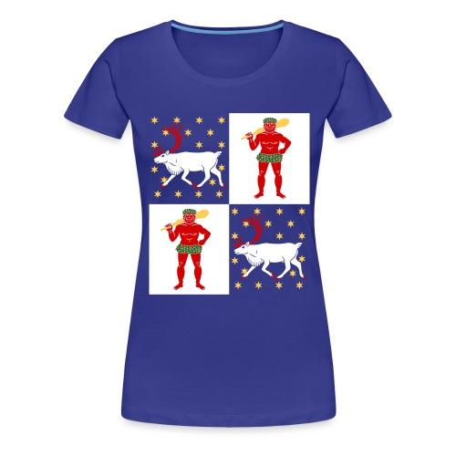 Norrbotten Stor - Premium-T-shirt dam