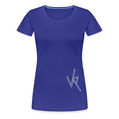 vap logo1 white and blue - Women's Premium T-Shirt