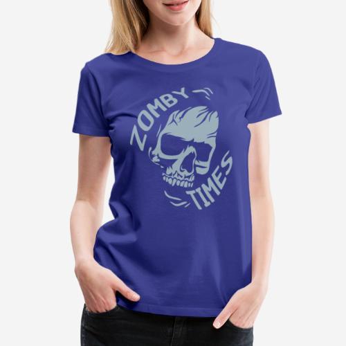zomby zeiten ära zombie - Frauen Premium T-Shirt