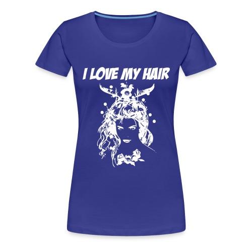 ilovemyhairwhite - Premium-T-shirt dam
