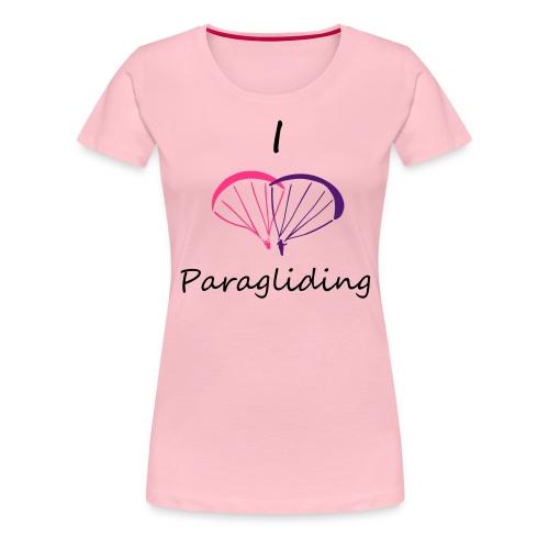I Love Paragliding V2 - Women's Premium T-Shirt