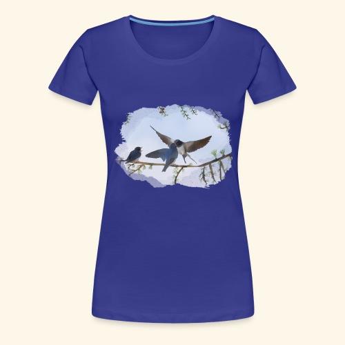 20 a Schwalben draußen.png - Frauen Premium T-Shirt
