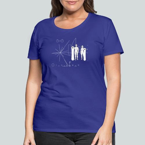 Snowboard Pioneer Plaque - T-shirt Premium Femme