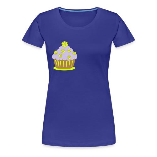 Blumencupcake - Frauen Premium T-Shirt