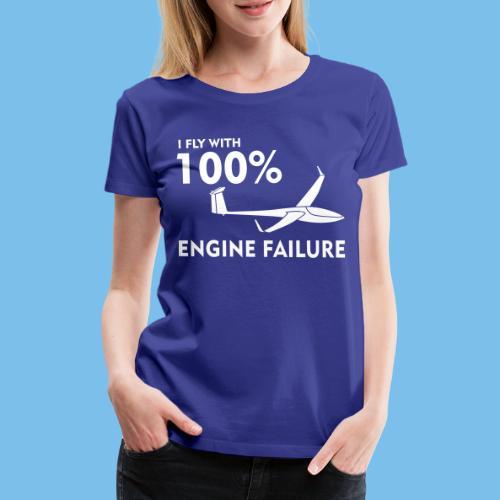 Motor Segelflugzeug lustig gleiten Segelflieger - Frauen Premium T-Shirt