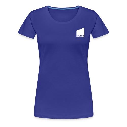 Hutch Logo Mono White - Women's Premium T-Shirt