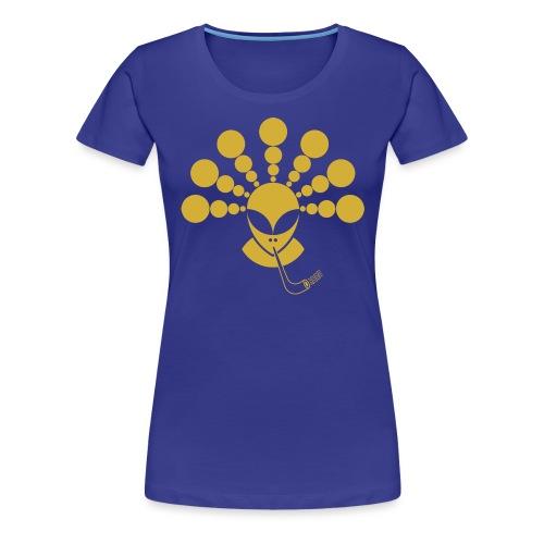 The Gold Smoking Alien - Women's Premium T-Shirt