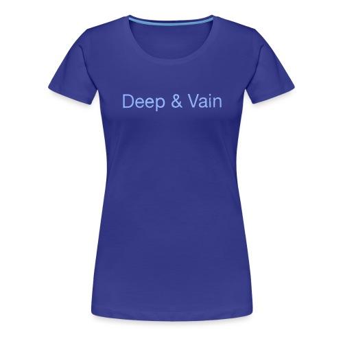 Deep&Vain Text Logo - Vrouwen Premium T-shirt