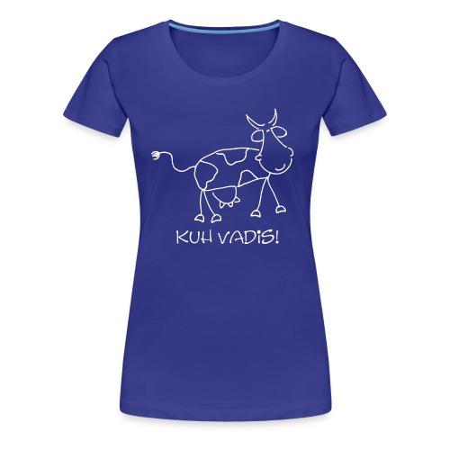 Comic Cow KUH VADIS - Frauen Premium T-Shirt