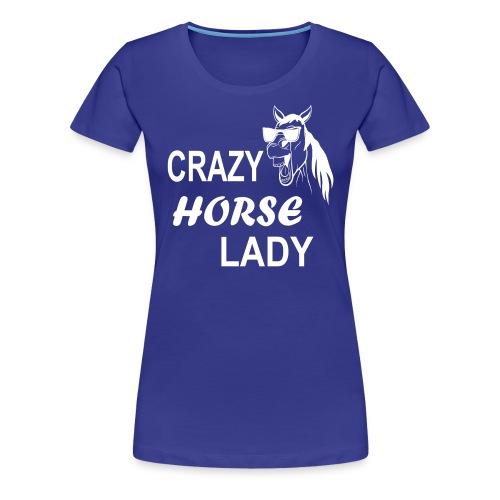 Crazy Horse Lady - Frauen Premium T-Shirt