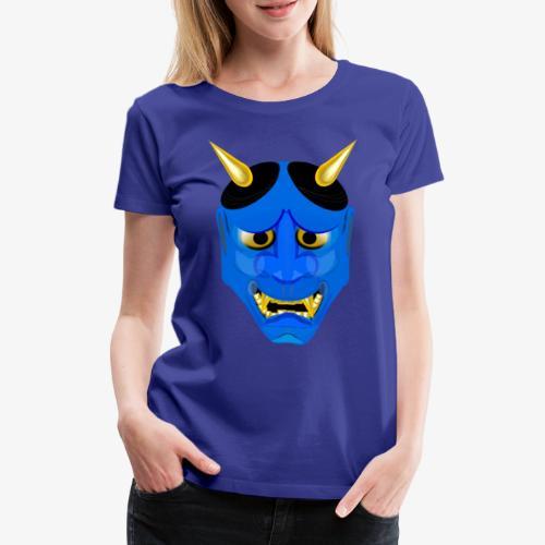 Demon Mask Blue - Women's Premium T-Shirt