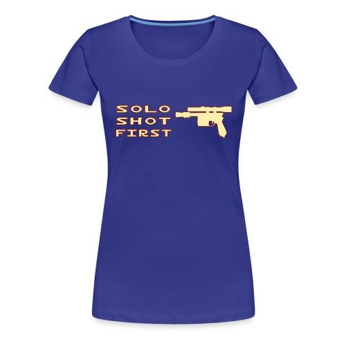 Solo Shot 1st - Maglietta Premium da donna