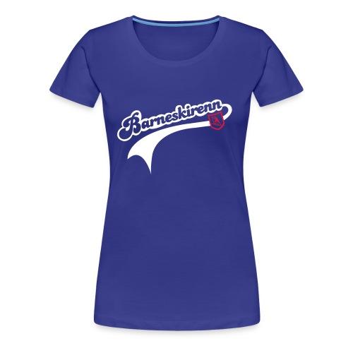 Barneskirenn rosa - Premium T-skjorte for kvinner