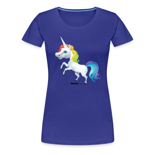 Tęczowy jednorożec - Koszulka damska Premium