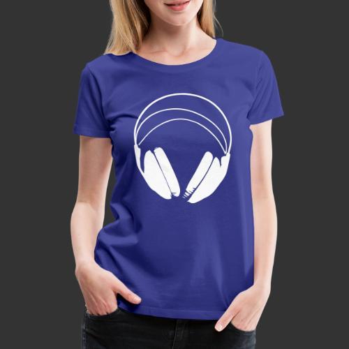 Casque blanc, logo de podradio vectorisé - T-shirt Premium Femme