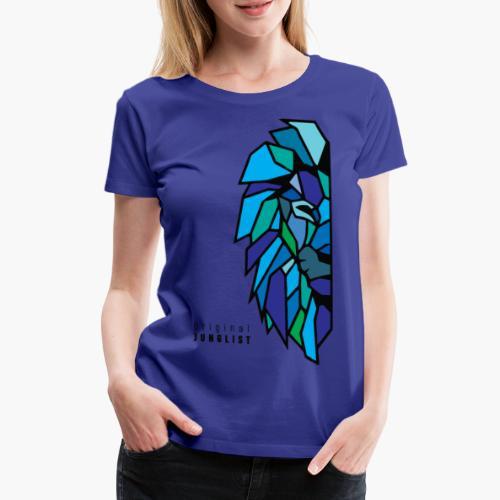 Lion's Head [blue] - Koszulka damska Premium