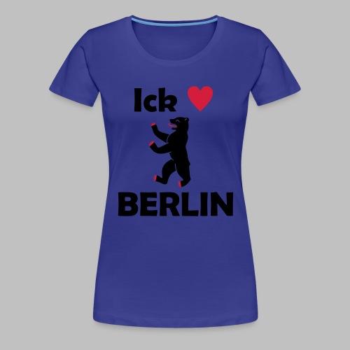 Ick liebe ❤ Berlin - Frauen Premium T-Shirt
