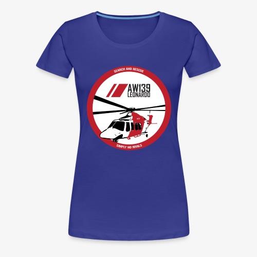 AW139 SAR Diseño Frontal - Camiseta premium mujer