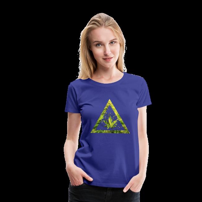 Marijuana Cannabisblatt Triangle with Splashes