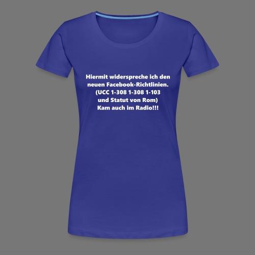 Facebook-AGB - Männer - Frauen Premium T-Shirt
