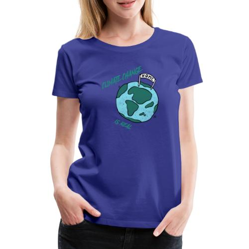 Climate change is real - Vrouwen Premium T-shirt