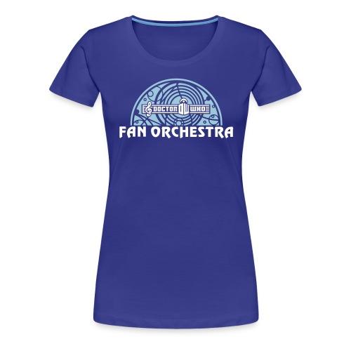 DWFO filled arc white-txt - Women's Premium T-Shirt